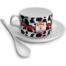 Cowprint Cowgirl Tea Cups (Personalized)