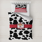 Cowprint Cowgirl Toddler Bedding w/ Name or Text