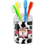 Cowprint Cowgirl Toothbrush Holder (Personalized)