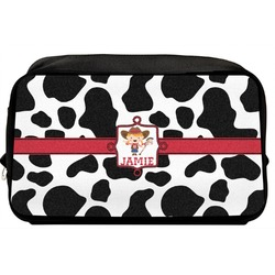 Cowprint Cowgirl Toiletry Bag / Dopp Kit (Personalized)