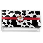 Cowprint Cowgirl Vinyl Check Book Cover (Personalized)
