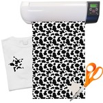 "Cowprint Cowgirl Heat Transfer Vinyl Sheet (12""x18"")"