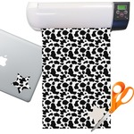 Cowprint Cowgirl Sticker Vinyl Sheet (Permanent)