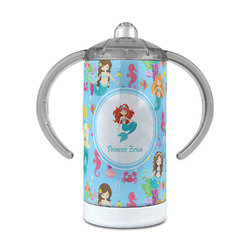 Mermaids 12 oz Stainless Steel Sippy Cup (Personalized)