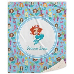Mermaids Sherpa Throw Blanket (Personalized)