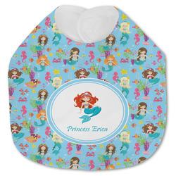 Mermaids Jersey Knit Baby Bib w/ Name or Text