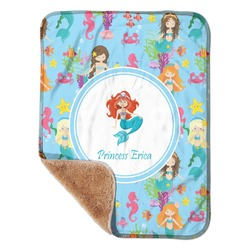 "Mermaids Sherpa Baby Blanket 30"" x 40"" (Personalized)"