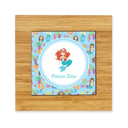 Mermaids Bamboo Trivet with Ceramic Tile Insert (Personalized)
