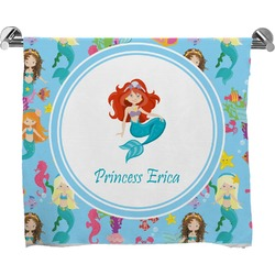 Mermaids Full Print Bath Towel (Personalized)