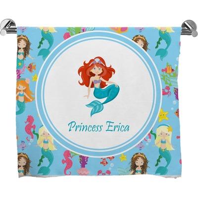 Mermaids Full Print Bath Towel (Personalized)