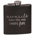 Mermaids Black Flask (Personalized)