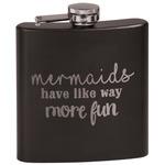 Mermaids Black Flask (Personalized)