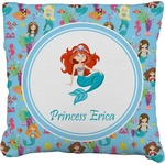 Mermaids Faux-Linen Throw Pillow (Personalized)