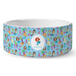 Mermaids Ceramic Pet Bowl (Personalized)