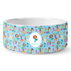 Mermaids Ceramic Pet Bowl (Personalized)