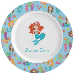 Mermaids Ceramic Dinner Plates (Set of 4) (Personalized)