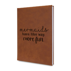 Mermaids Leatherette Journal (Personalized)