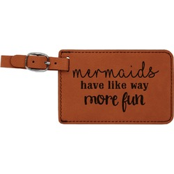 Mermaids Leatherette Luggage Tag (Personalized)