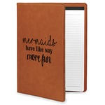 Mermaids Leatherette Portfolio with Notepad (Personalized)