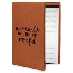Mermaids Leatherette Portfolio with Notepad - Small - Single Sided (Personalized)