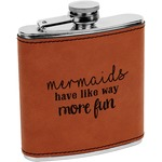 Mermaids Leatherette Wrapped Stainless Steel Flask (Personalized)