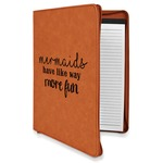 Mermaids Leatherette Zipper Portfolio with Notepad (Personalized)
