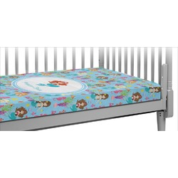 Mermaids Crib Fitted Sheet (Personalized)