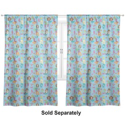 "Mermaids Curtains - 20""x63"" Panels - Unlined (2 Panels Per Set) (Personalized)"