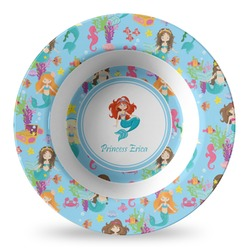 Mermaids Plastic Bowl - Microwave Safe - Composite Polymer (Personalized)
