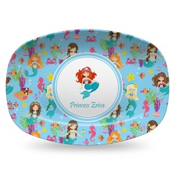 Mermaids Plastic Platter - Microwave & Oven Safe Composite Polymer (Personalized)