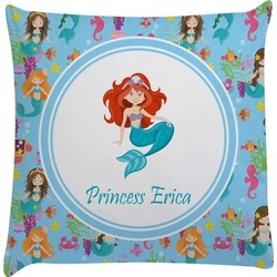 Mermaids Decorative Pillow Case (Personalized)