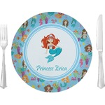 "Mermaids Glass Lunch / Dinner Plates 10"" - Single or Set (Personalized)"