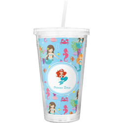 Mermaids Double Wall Tumbler with Straw (Personalized)