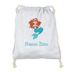 Mermaids Drawstring Backpack - Sweatshirt Fleece (Personalized)