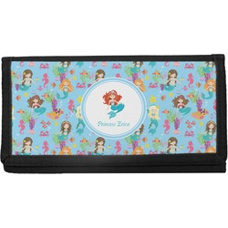 Mermaids Canvas Checkbook Cover (Personalized)