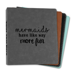 """Mermaids Leather Binder - 1"""" (Personalized)"""
