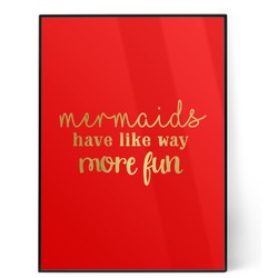 Mermaids 5x7 Red Foil Print (Personalized)