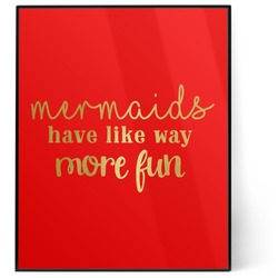 Mermaids 8x10 Foil Wall Art - Red (Personalized)