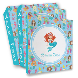 Mermaids 3 Ring Binder - Full Wrap (Personalized)