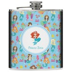Mermaids Genuine Leather Flask (Personalized)