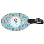 Mermaids Genuine Leather Oval Luggage Tag (Personalized)