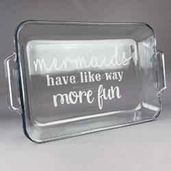 Mermaids Glass Baking and Cake Dish (Personalized)