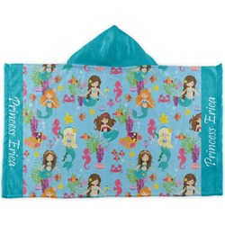 Mermaids Kids Hooded Towel (Personalized)
