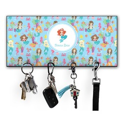 Mermaids Key Hanger w/ 4 Hooks w/ Graphics and Text