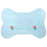 Mermaids Bone Shaped Dog Food Mat (Personalized)