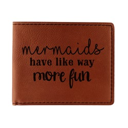 Mermaids Leatherette Bifold Wallet - Double Sided (Personalized)
