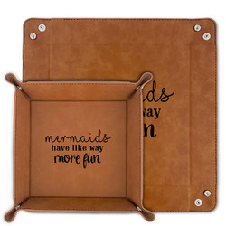 Mermaids Faux Leather Valet Tray (Personalized)
