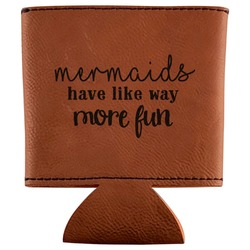 Mermaids Leatherette Can Sleeve (Personalized)