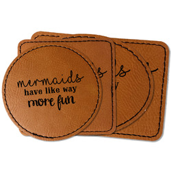 Mermaids Faux Leather Iron On Patch (Personalized)