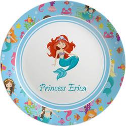 "Mermaids Melamine Plate - 8"" (Personalized)"
